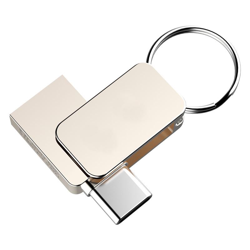 USB flash disk 3.0, 16GB, s typ C konektorem, stříbrný (UDM1142C)