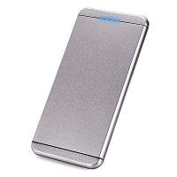 Power bank ultratenká, kovová, 5000mAh, šedá barva (PBA5095)