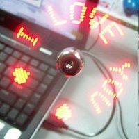 LED USB VĚTRÁČEK SE SVÍTÍCÍM TEXTEM