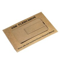 EKOBOX PAPÍROVÁ KRABIČKA NA USB FLASH DISK KARTY 7 X 5 cm