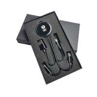 NAPÁJECÍ USB KABEL 3 V 1 S LED LOGEM A TVRZENÝM SKLEM , V DÁRKOVÉ KRABIČCE