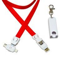 4 v 1 -  NAPÁJECÍ USB KABEL VE ŠŇŮRCE NA KRK