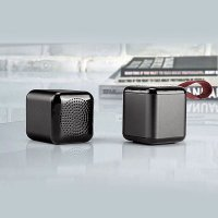 SET 2 KS MINI CUBE BLUETOOTH REPRODUKTORŮ S TWS FUNKCÍ