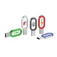CRYSTAL USB FLASH DISK  S LED PODSVÍCENÝM LOGEM