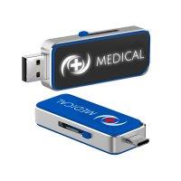 OTG USB FLASH DISK 3.0 S LED LIGHT-UP LOGEM A KONEKTOREM TYPE-C