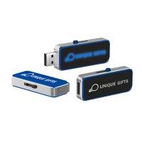 VÝSUVNÝ USB FLASH DISK S LED LIGHT-UP LOGEM