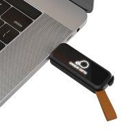 VÝSUVNÝ USB FLASH DISK S LED LOGEM