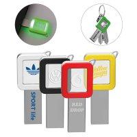 CRYSTAL USB FLASH DISK VE TVARU KLÍČE S LED SVÍTÍCÍM LOGEM