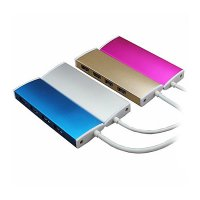 ALUMINIOVÝ USB 3.0 HUB, 4 PORTY,KONEKTOR TYPE-C