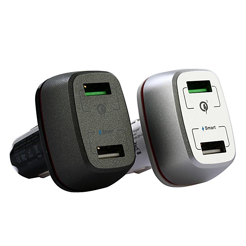 RYCHLONABÍJECÍ AUTOADAPTÉR S 2 USB PORTY A LED PROUŽKEM