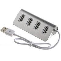 ALUMINIOVÝ USB 2.0 HUB, 4 PORTY