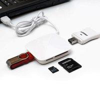 USB 2.0 HUB, 3 PORTY + ČTEČKA SD / MICRO SD (TF) KARET