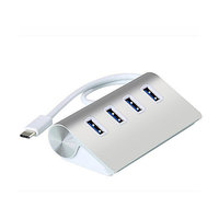 ALUMINIOVÝ USB 3.0 HUB, 4 PORTY, KONEKTOR TYPE - C