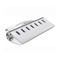 ALUMINIOVÝ USB 3.0 HUB, 7 PORTŮ, KONEKTOR TYPE - C