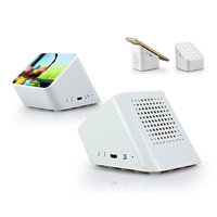 Bluetooth reproduktor a stojánek s přísavkami 2V1, bílá barva (SPE072)