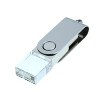 CRYSTAL TWISTER - SKLENĚNÝ USB FLASH DISK
