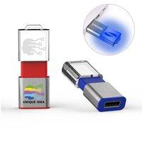 SVÍTÍCÍ VÝSUVNÝ USB FLASH DISK MAGIC S 3D LOGEM V AKRYLU