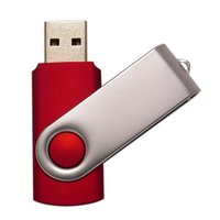 USB flash disk 2.0 TWISTER, 4 GB, červená barva (UDM001)