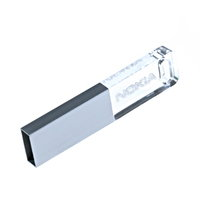 MINI USB FLASH DISK S LED PODSVÍCENÝM LOGEM