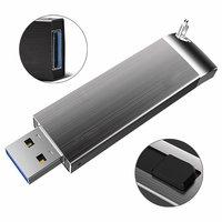 USB flash disk kovový, 3.0, 32GB, tmavě šedá (UDM1126)