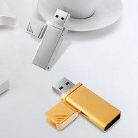 KOVOVÝ USB 3.0 FLASH DISK LIGHTER, S VÝKLOPNOU ČEPIČKOU