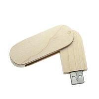 USB FLASH DISK DŘEVĚNÝ OTOČNÝ