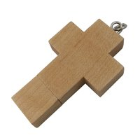 USB FLASH DISK DŘEVĚNÝ KŘÍŽ