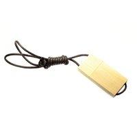 USB FLASH DISK DŘEVĚNÝ SE ŠŇŮRKOU NA KRK
