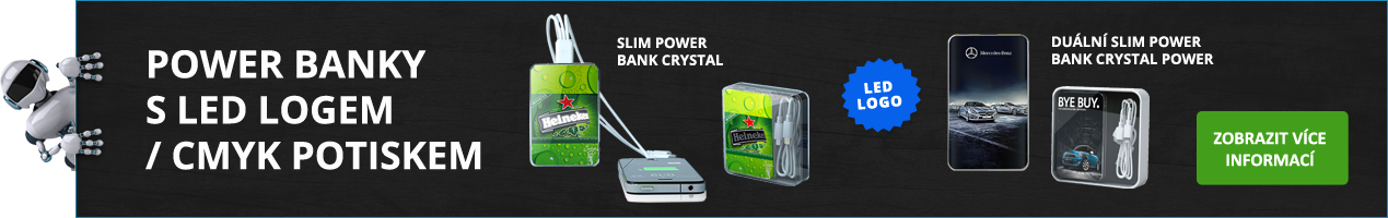 POWER BANKS WITH LED LOGO/ CMYK PRINTING